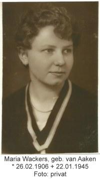 Maria Wackers, 1906 - 1945, Kevelaer